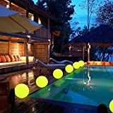 LED Ball Light, 5.9-Inch Rechargeable Color Changing Lighting Remote Control Waterproof Ball Lights Indoor Outdoor Lighting for Home Garden Decoration