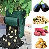 sunshopping 2-Pack 7 Gallon Garden Potato Grow Bag Vegetables Planter Bags with Handles and Access Flap,Raised Garden Bed For Potato Carrot & Onion