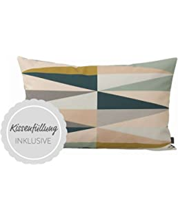 Ferm Living Kissenhülle Spear Cushion   Multi   Small 60 X 40 Cm Mit Füllung