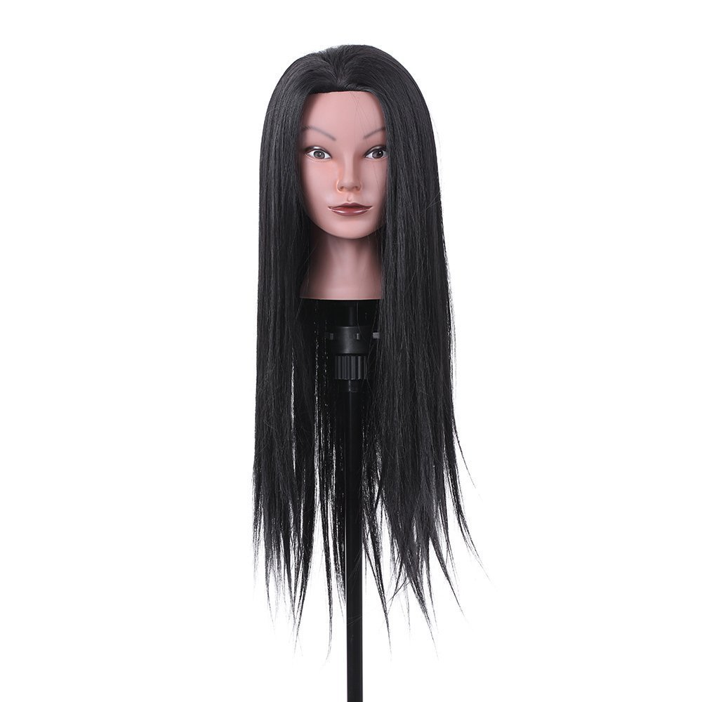 Anself 23 30% Real Hair Hairdressing Training Head Dummy Head Cosmetology Mannequin Head Decdeal W5342-QAJGDF