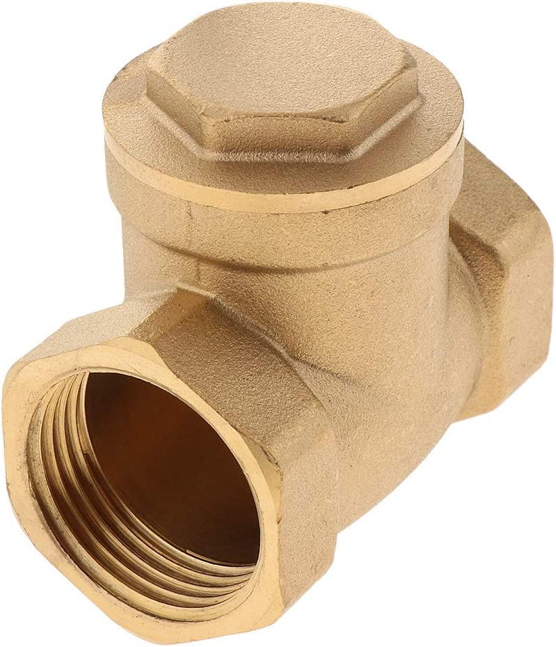 One Way Non Return Check Valve DN25 Corrosion Resistance 1 Inch 1-1//4 Inch Brass Swing Check Valve 1-1//2 Inch BSP Female Thread 2 Inch
