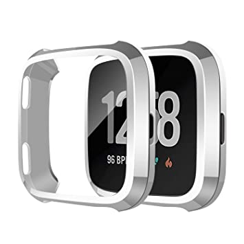 SYOSIN Compatible con Fitbit Versa Protector Pantalla Funda Suave ...