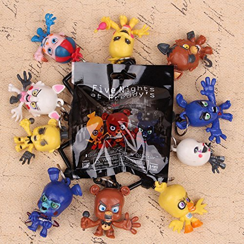 gg Five Nights At Freddy's FNAF 10 PCS Collector Clips Chica Bonnie Foxy Puppet Toy