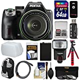 Pentax K-70 All Weather Wi-Fi Digital SLR Camera & 18-135mm WR Lens (Black) with 64GB Card + Backpack + Flash + Battery + Tripod + Filters + Remote + Kit