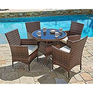 61sTp6BREnL._SS300_ Wicker Dining Tables & Wicker Patio Dining Sets