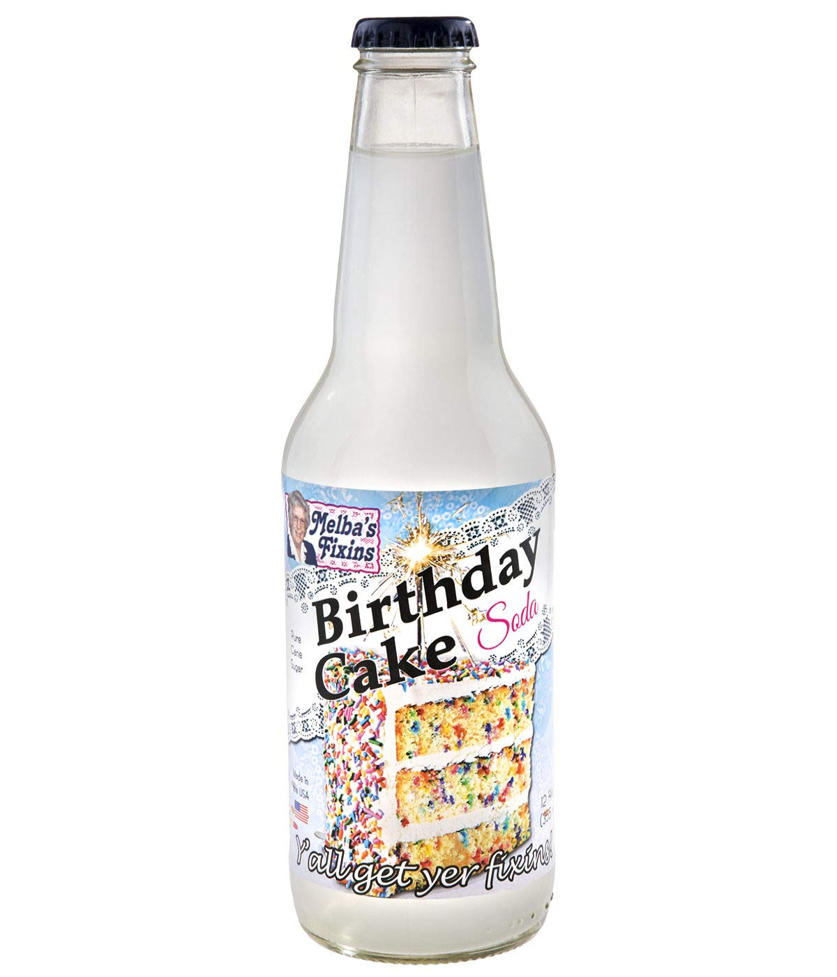 Astounding Amazon Com Melbas Fixins Birthday Cake Soda 12Oz Bottle Personalised Birthday Cards Bromeletsinfo