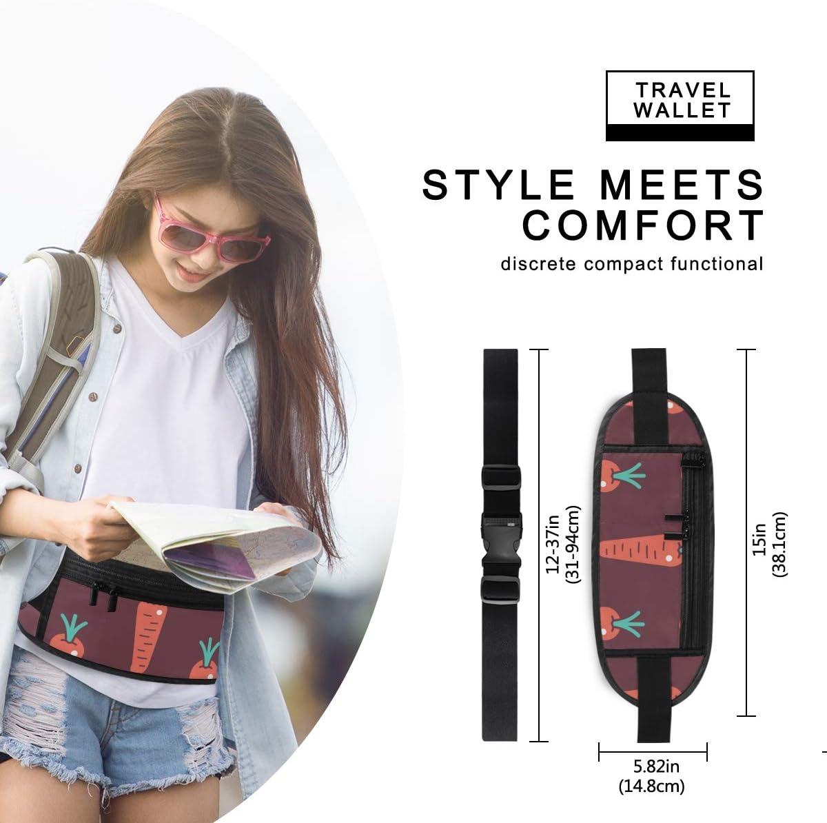 Travel Waist Pack,travel Pocket With Adjustable Belt Carrots Pattern Cartoon Sticker Style Running Lumbar Pack For Travel Outdoor Sports Walking