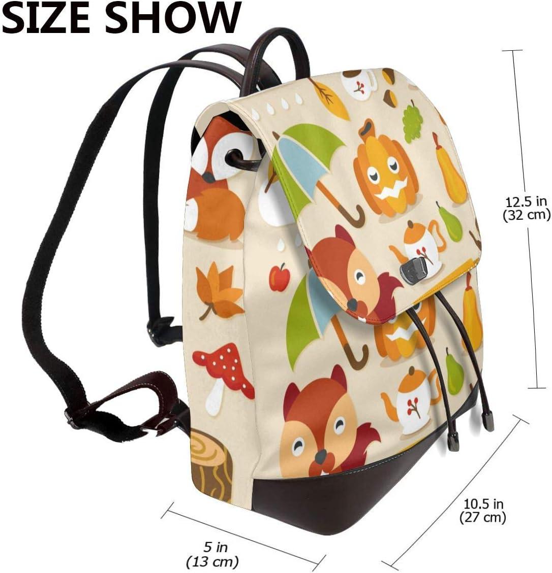 Women PU Leather Fashion Backpack Purse Autumn Animals Travel School Shoulder Bag Girls Ladies Daypack Handbags