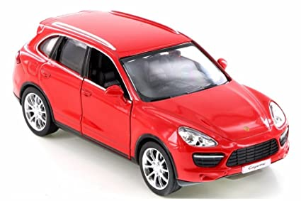 RMZ City Porsche Cayenne Turbo, Red 555014 - Diecast Model Toy Car but NO BOX