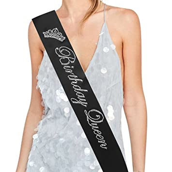 Banda de diamantes de imitación «Birthday Queen» - 15, 16 ...