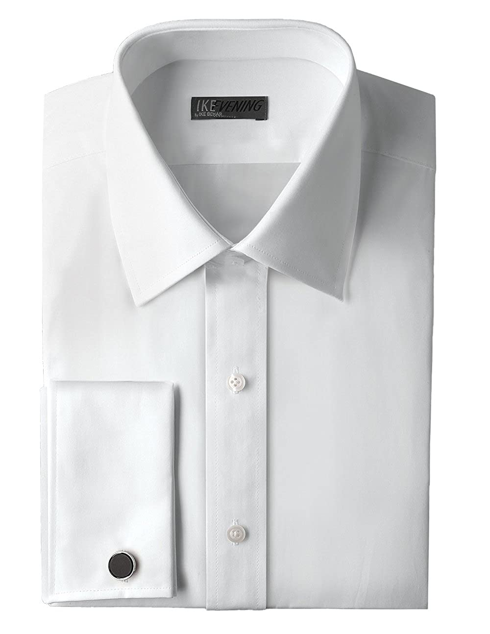 Ike Behar Traditional Fit 100/% Woven Cotton Tuxedo Dress Shirt