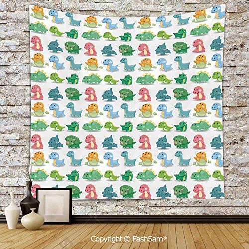Tapestry Wall Blanket Wall Decor Colorful Dinosaur Pattern