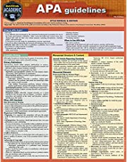 APA Guidelines - 7th Edition: A Quickstudy Laminated Reference Guide