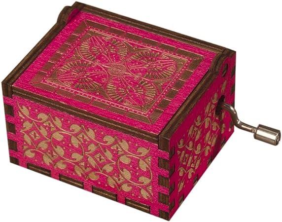 Yalatan Cajas de música de Madera del Castillo en el Cielo, manivela acogedora Vintage Cajas Musicales de Madera talladas Antiguas Regalos para niños, Amigos: Amazon.es: Hogar