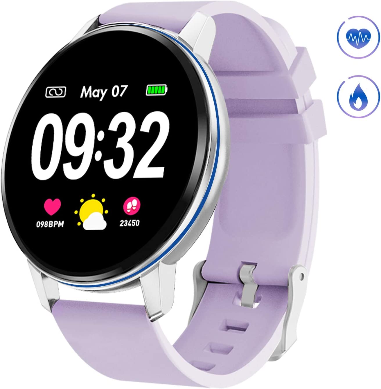 Smartwatch Deporte para Mujer Hombre con Pantalla Completa Táctil ...
