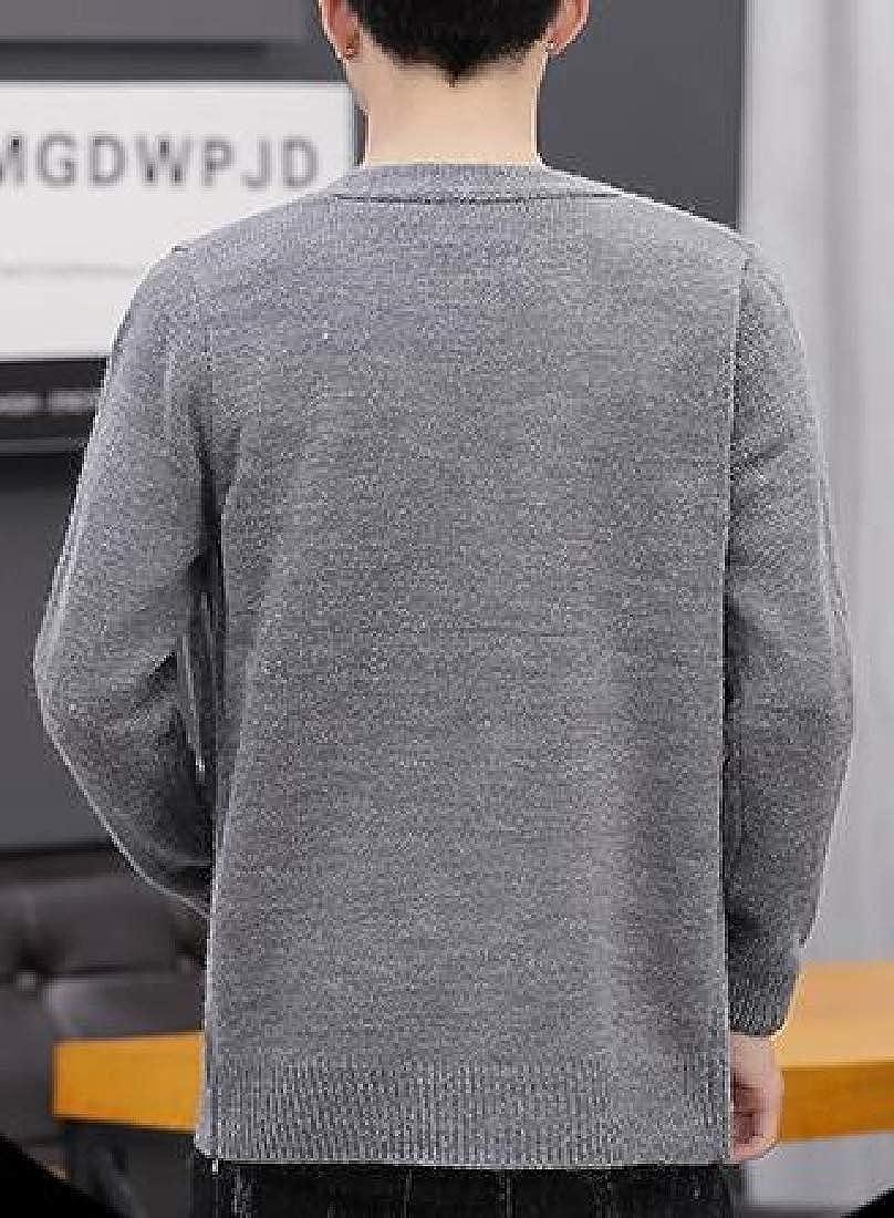 Beloved Mens Long Sleeve Slim Fit Knit V-Neck Cardigan Sweater