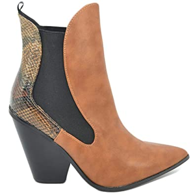 Malu Shoes Tronchetto Donna camperos a Punta con Elastico