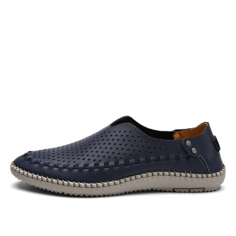 XIAOLONGY Las Sandalias De Los Nuevos Hombres del Verano Zapatos Huecos Respirables De Los Hombres Calzan Los Zapatos Casuales De Los Pies De La Comodidad,DeepBlueHole-38 38|DeepBlueHole