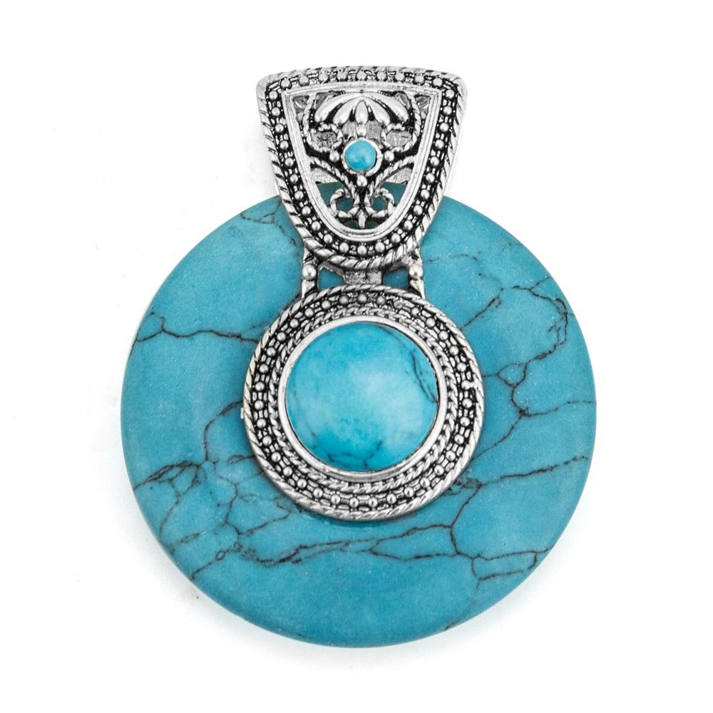 LookLove Turquoise Pendant Womens Jewelry Enhancer to Wear on your Favorite Necklace
