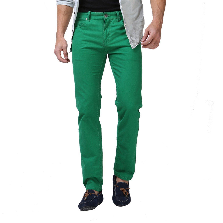 TOPING Fine 2018 Men Pants Fashion Casual Pants For Men Good Quality Khaki Black Blue White E5076 Green31