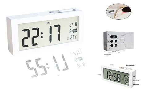 NBD® despertador silencioso luminoso con pila, 13,97 cm, alarma, LED