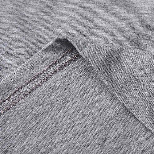 Occasionnelles Chemisier clair Slim Longues JIANGfu Chemisier Gris Automne Dbardeurs T Shirt Fermeture Femme Mode Manches Femmes Shirts T rcHar87