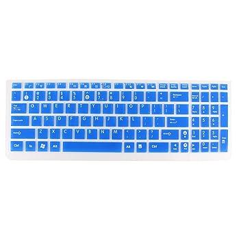 Protector de teclado para ordenador portátil azul Transparente para Asus N50/N51/N53J/K50: Amazon.es: Electrónica