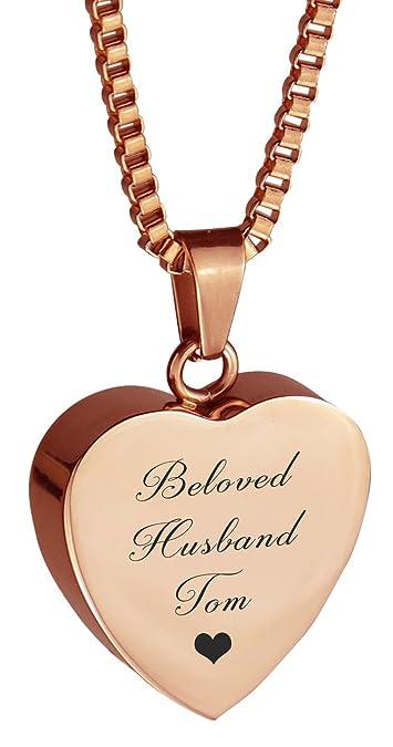Beloved Mum Dove Urn Pendant - Memorial Ash Keepsake - Cremation Jewellery IxEdYa