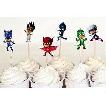 Frog Studio Home 24pcs 6 Design x4pcs PJ Masks Hero Themes ...