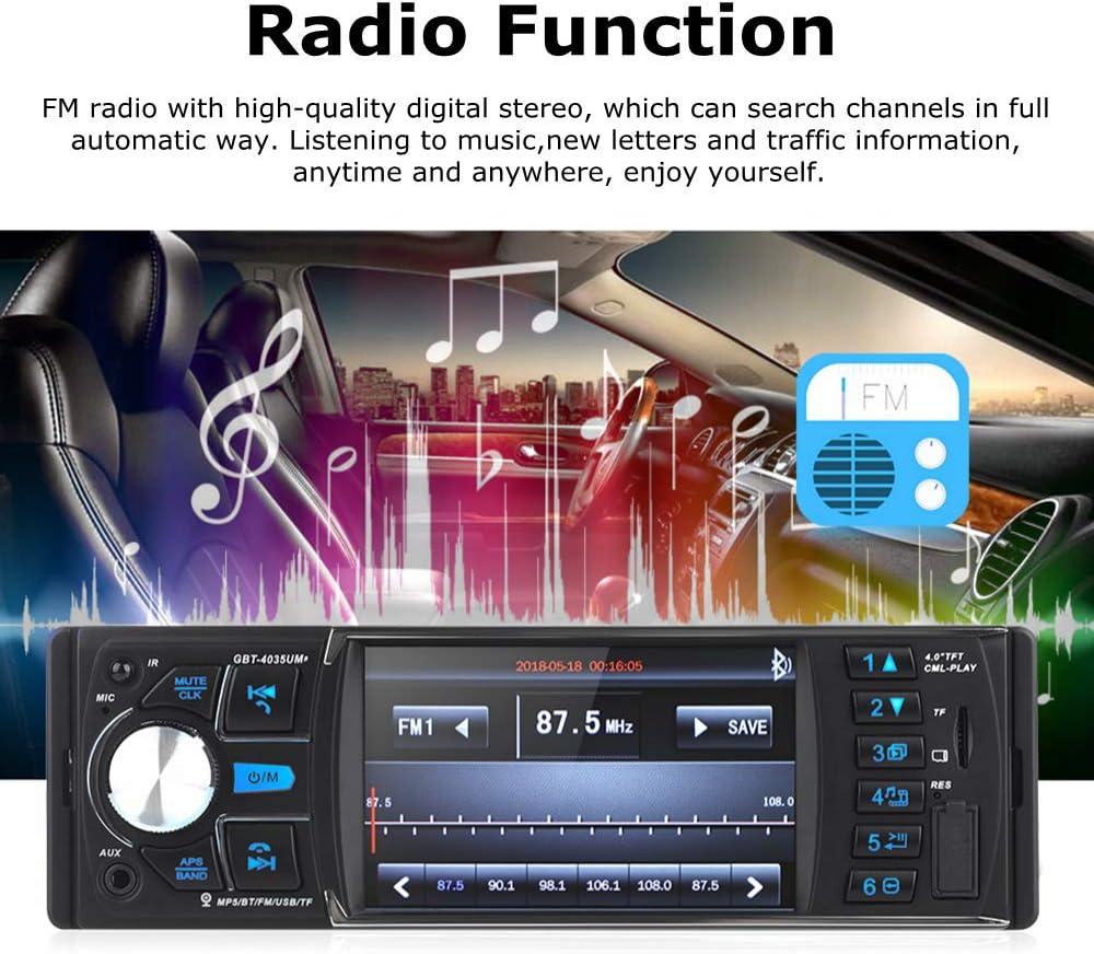 Car Radio Support Backup Camera Bluetooth FM USB AUX TF Mirror ...
