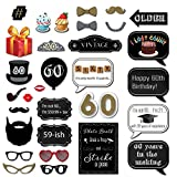 60th Birthday Photo Booth Props with Strike a
