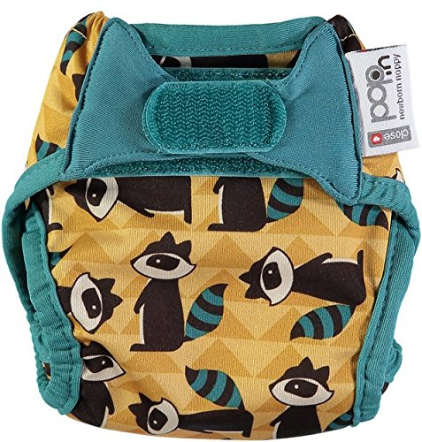 Pop-In Single Printed Newborn Nappy, Raccoon Close Parent Ltd 230347