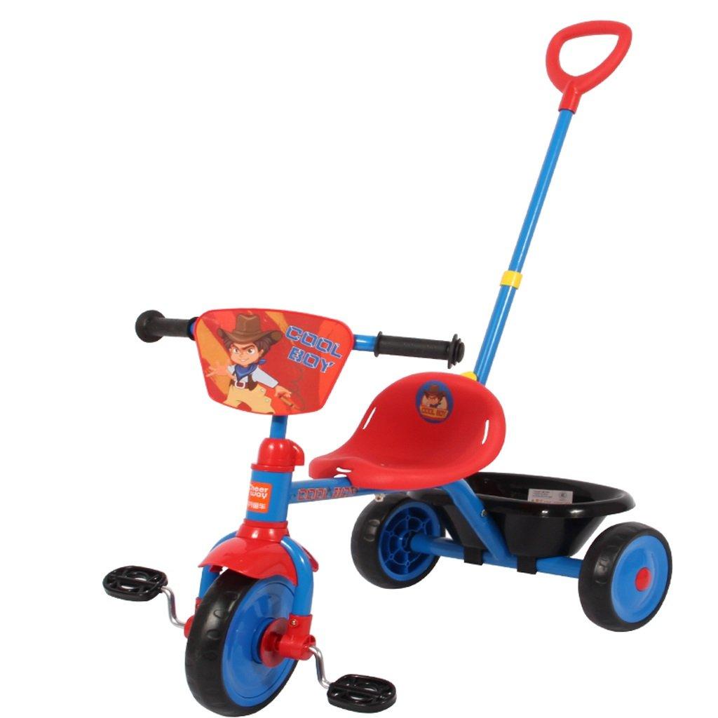 子供のトロリー自転車の自転車2-6歳の赤ちゃんの三輪車調節可能なパター、赤/ピンク、66 * 43 * 95cm ( Color : Red ) B07C52PJJ7