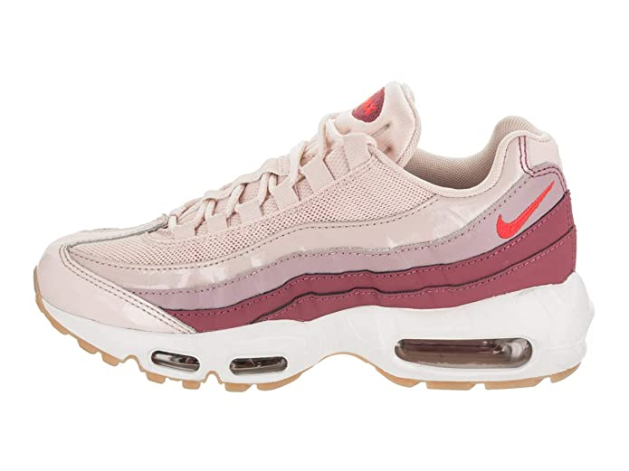 Amazon.com | NIKE Womens Air Max 95 Barely Rose/Hot Punch Casual Shoe 8 Women US | Road Running