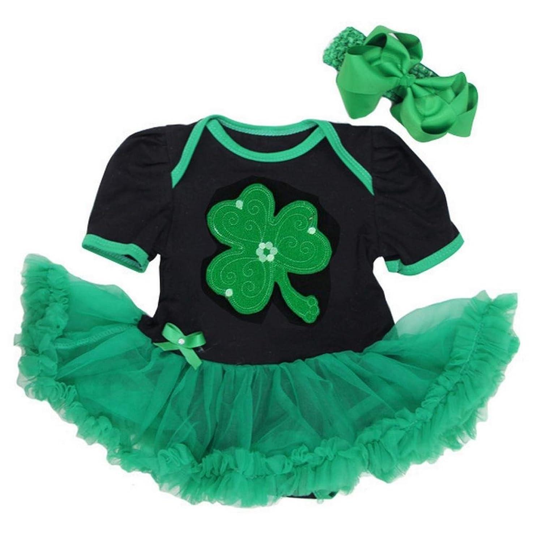 Amazon Baby Green Shamrock St Patricks Day Bodysuit Tutu Clothing