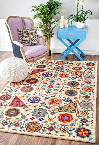 nuLOOM Deonna Hand Tufted Wool Rug, 4 x 6 , Multi