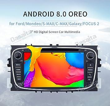 """Dasaita 7"""" 2 Din Android 8.0 Autoradio Radio de Coche Bluetooth Manos Libres para Ford"""