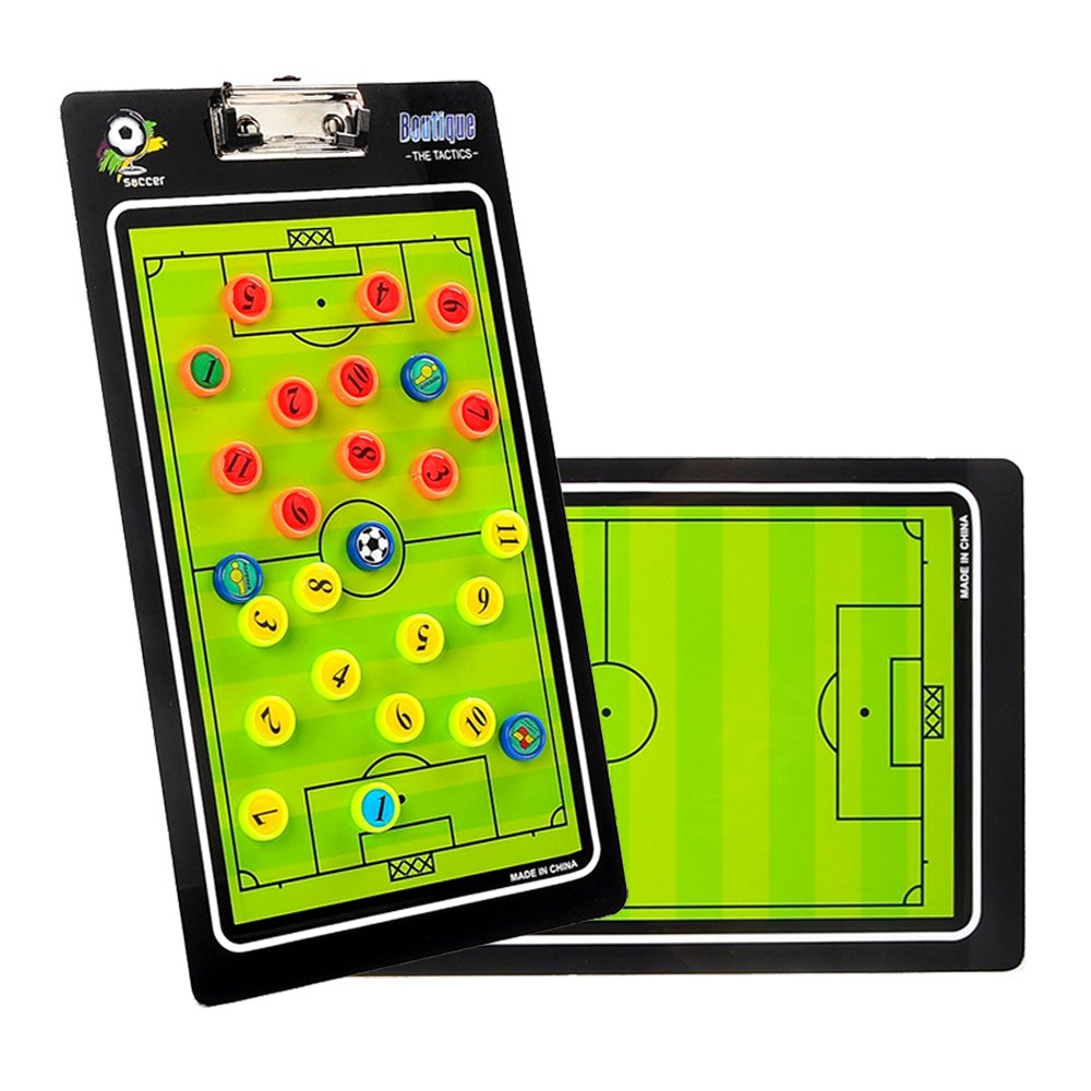 Queen-Ks Football Coaching Board Magnetic Magnet With Marker Pen Dry Erase Soccer Coach Clipboard
