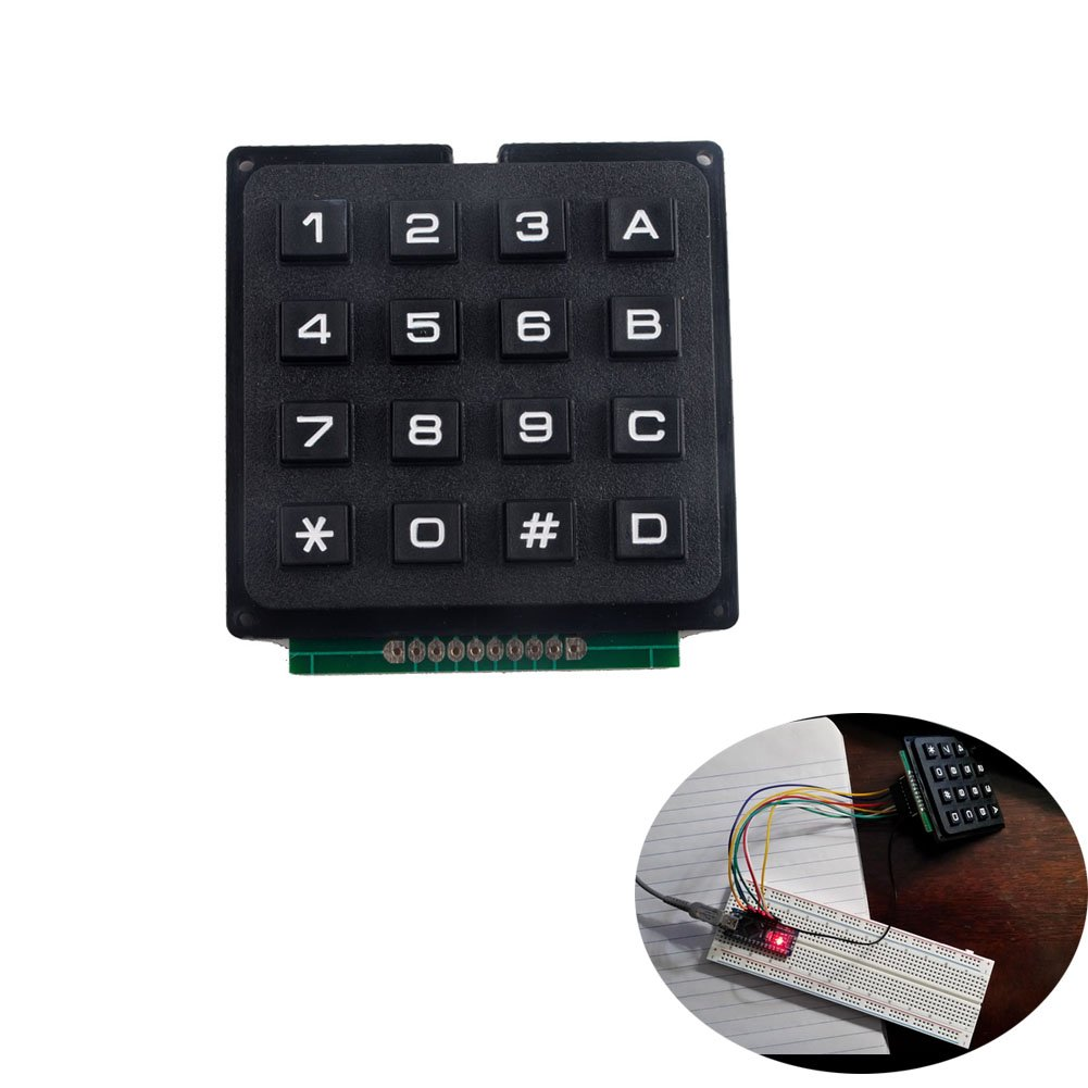 YETAIDA 4 Pack Arduino Keypad,Universial 4x4 Matrix Array Keyboard 16 Key Membrane Switch Keypad for Arduino DIY Starter Kit