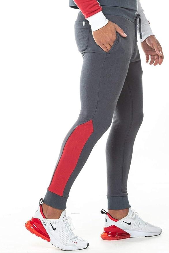 11 Degrees Pantalon Chandal Gris Claro Gym Skinny (S): Amazon.es ...