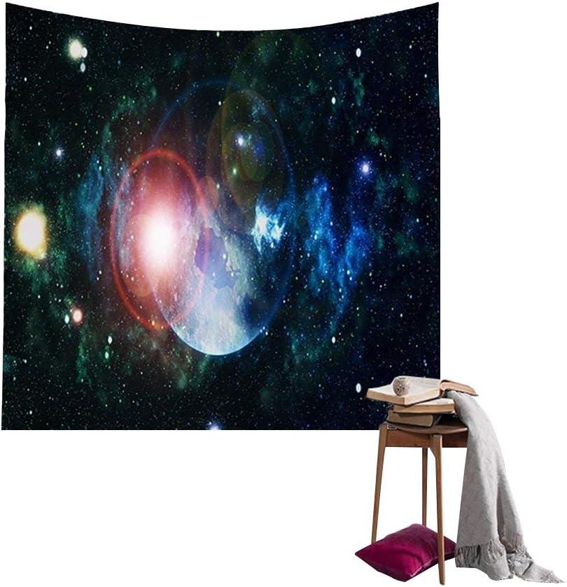 QEES D/écoration de Chambre Tapisserie Murale Drap de Plage Ciel Etoile Imprim/é 150 GT01-Violet 102 cm