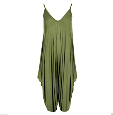 82c316fb0e6 Classic Women Ladies Cami Romper Baggy Harem Jumpsuit Playsuit Dress Plus  Size 8 to 26 (