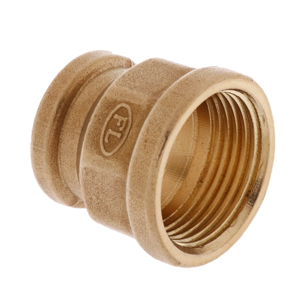 Female Brass Barbed Double End Threaded Connector Connection Tube Hose Connector Garden Tool 1 inch As described