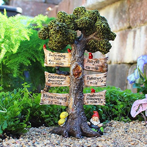Mini Dollhouse FAIRY GARDEN Accessories - The Sign Says - My Garden Miniatures