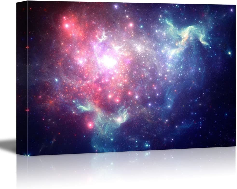 Canvas Prints Wall Art - Colorful Space Nebula Beautiful Universe/Outer Space | Modern Wall Decor/Home Decoration Stretched Gallery Canvas Wrap Giclee Print & Ready to Hang - 12