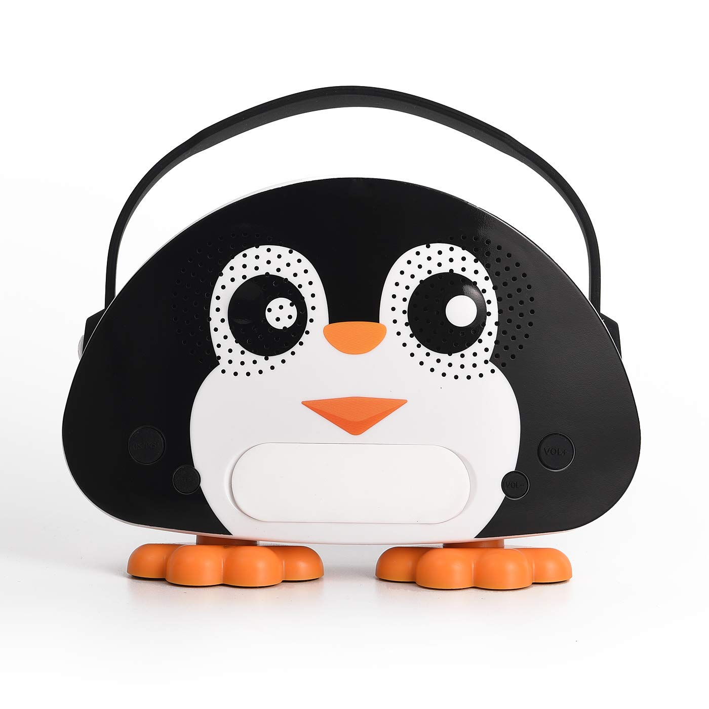 HowQ Outdoor Toys Karaoke Machine , Portable Kids Karaoke Bluetooth Speaker Wireless Cartoon Speaker for Kids for Indoor Toys Travel Activities with Microphone Penguin Karaoke Machine(Black-White) by HowQ (Image #2)