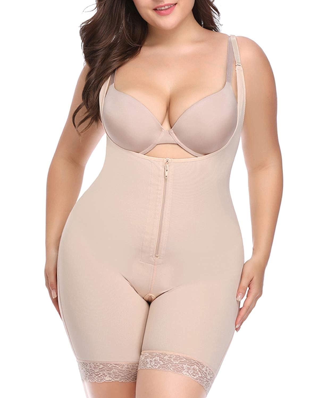 DoLoveY Women Full Body Shaper Tummy Control Seamless Slimming Shapewear Bodysuit Butt Lifter Slimmer Plus Size