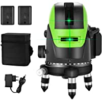 Kruislijnlaser Groene Laser Niveau 3D 5 Lijnen Kruislaser 25m 4x90° Horizontale Lijnen 1x180° Verticale Kruislijnen…