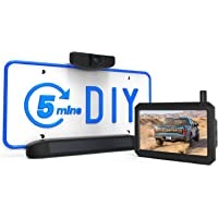 AUTO-VOX Solar Wireless Backup Camera, 5 Mins DIY Installation, 5 Inch HD Monitor with Digital Wireless Signal and HD…