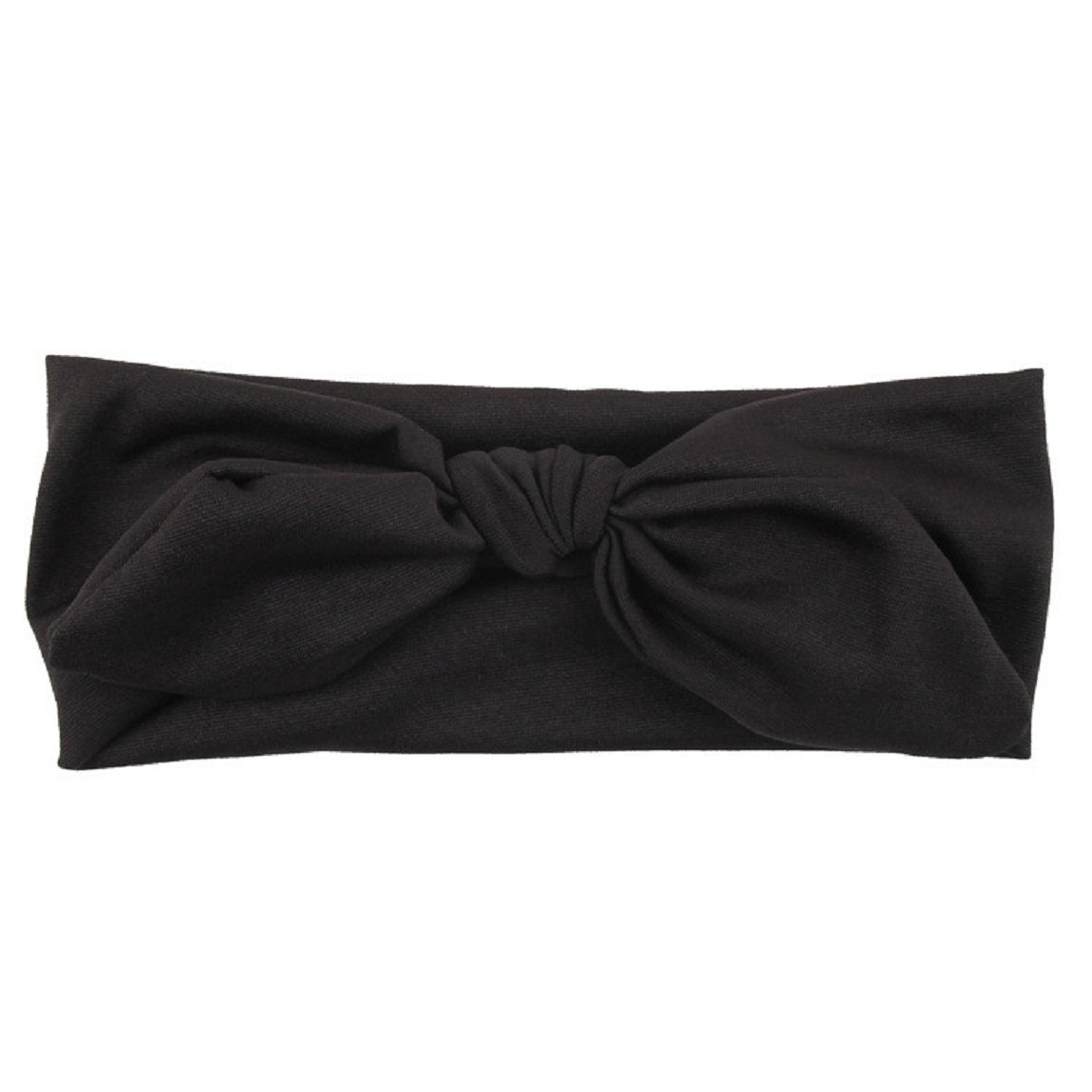 65ed93b0f6d Amazon.com  DKmagic Baby Kids Girls Rabbit Bow Ear Hairband Headband Turban  Knot Head Wraps (Black)  Clothing